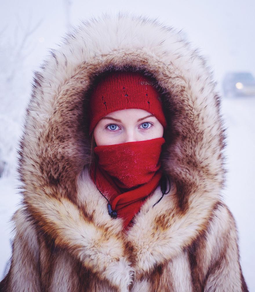 dünyanın en soğuk köyünde yaşayanlar