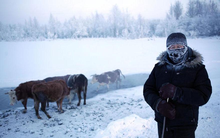 dünyanın en soğuk köyü rusya