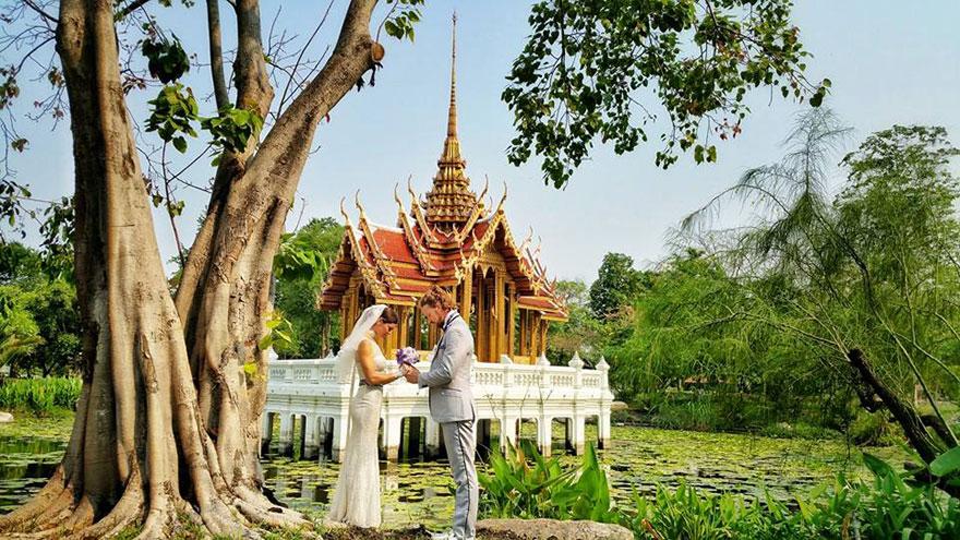 38 düğünle dünya evine giren akrobat çift